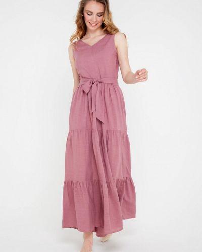 Прямое розовое платье Gregory