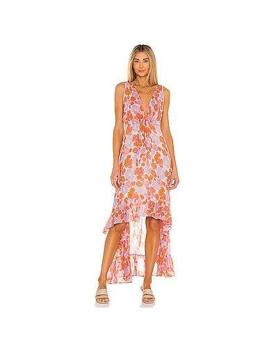 Оранжевое платье из вискозы на резинке Sundress