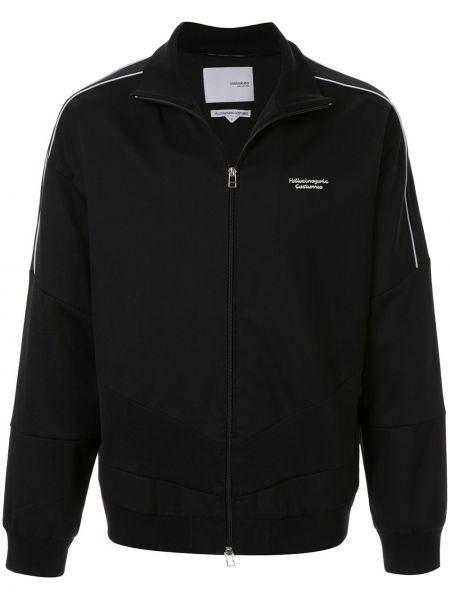Черная спортивная куртка с манжетами с вышивкой Yoshiokubo