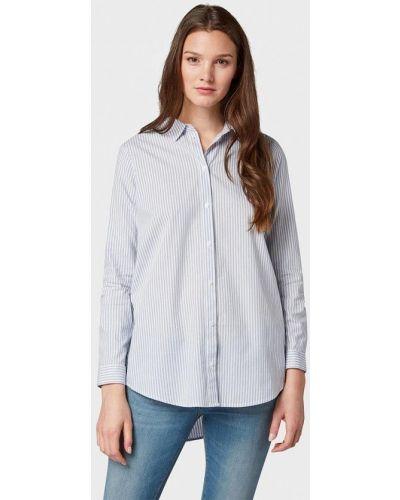 Голубая рубашка с длинным рукавом Tom Tailor