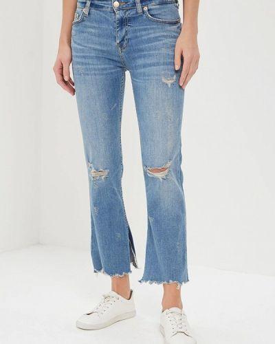 Синие джинсы с высокой посадкой Colin's