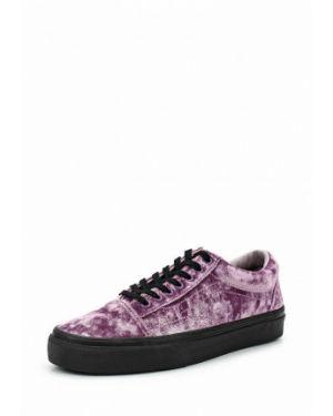 Кроссовки фиолетовый велюровые Vans