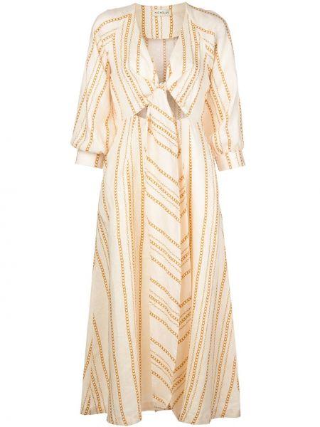 Платье миди с V-образным вырезом прямое Nicholas