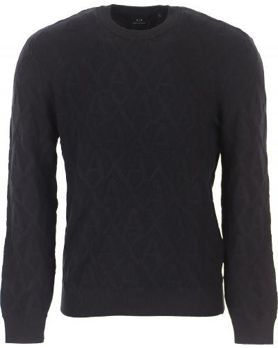 Czarny sweter z wiskozy Armani Exchange