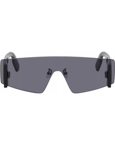Белые солнцезащитные очки прозрачные металлические Kenzo