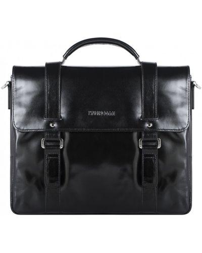 Кожаная сумка деловая на молнии Franchesco Mariscotti