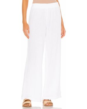 Spodnie bawełniane - białe Bobi