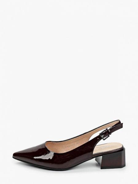 Кожаные бордовые кожаные туфли с открытой пяткой Berkonty