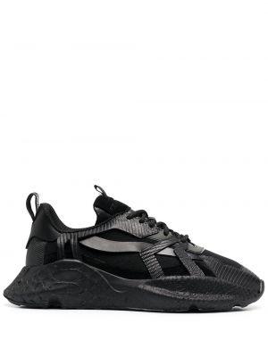 Массивные черные кроссовки на шнуровке Roberto Cavalli