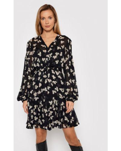 Sukienka w kwiaty - czarna The Kooples