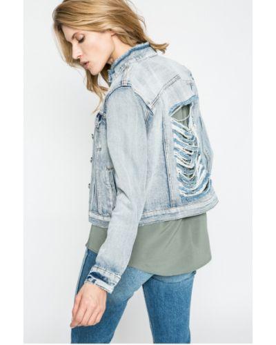 Джинсовая куртка утепленная на пуговицах Noisy May