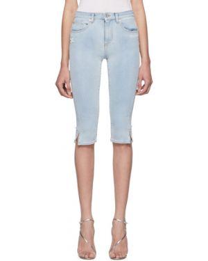 Джинсовые шорты с карманами кожаный Off-white
