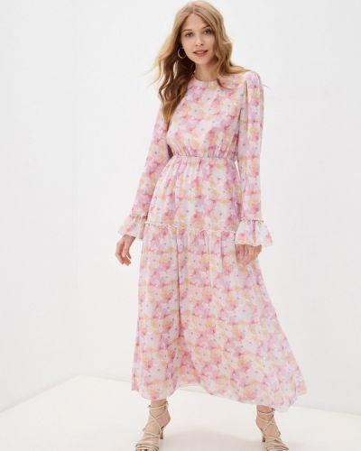 Прямое розовое платье А-силуэта Trendyol
