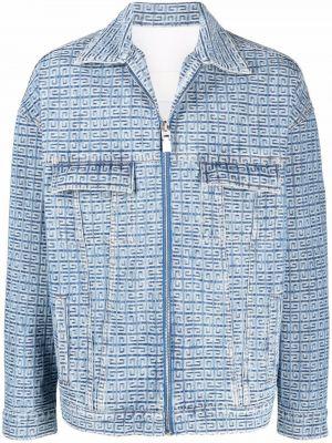 Синяя куртка длинная Givenchy
