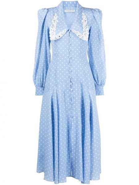 Шелковое платье макси - белое Alessandra Rich