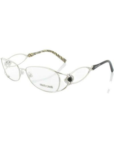Białe okulary Roberto Cavalli