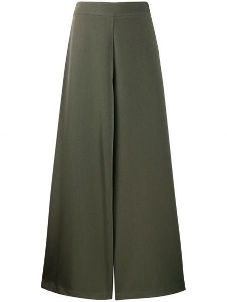 Zielone spodnie z wiskozy Ultrachic