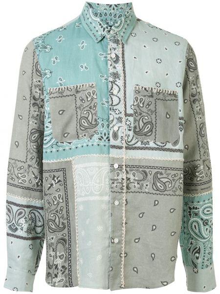 Koszula z długim rękawem klasyczna niejednolita całość Amiri