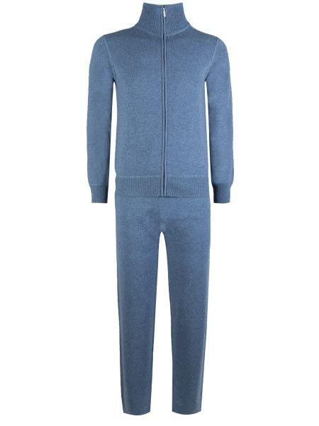 Синий кашемировый спортивный костюм с карманами Cruciani