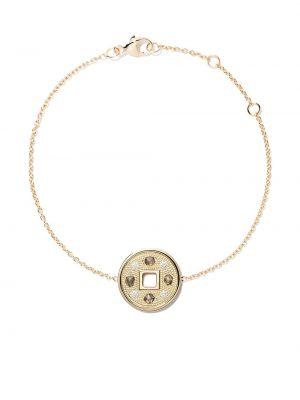 С ромбами золотой браслет золотой с бриллиантом De Beers