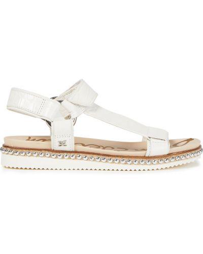 Białe sandały na rzepy Sam Edelman