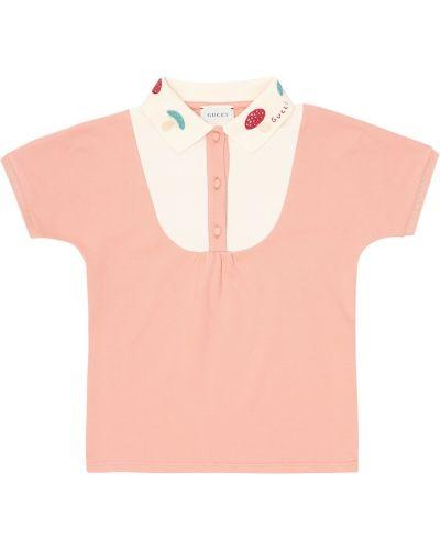 Codziennie bawełna bawełna różowy koszulka polo Gucci Kids