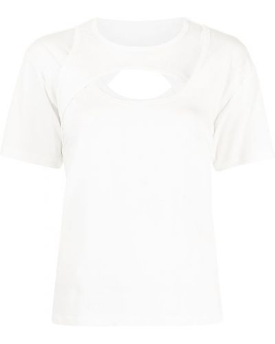Белая прямая футболка Dion Lee