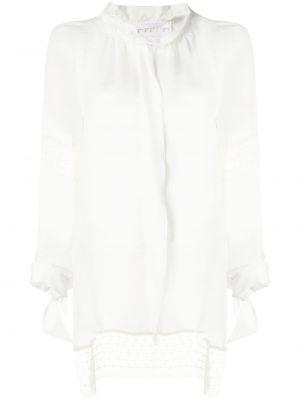 Шелковая блузка - белая Roland Mouret