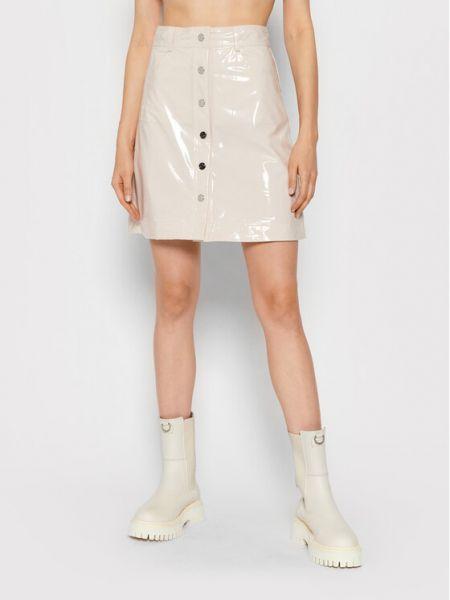 Beżowa spódnica trapezowa Remain