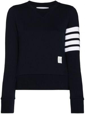Пуловер с вырезом - синий Thom Browne