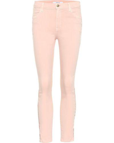 Укороченные джинсы в полоску скинни J Brand