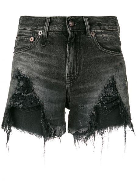 Джинсовые шорты с карманами на пуговицах R13