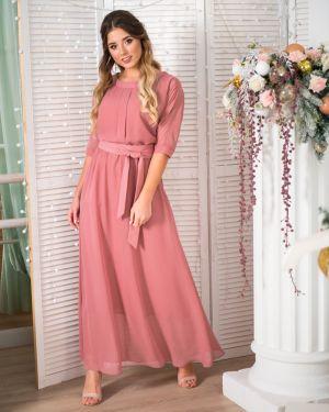 Вечернее платье макси с поясом Merlis