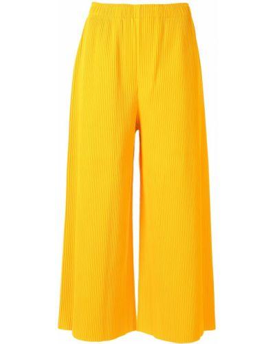 Свободные брюки в цветочный принт с поясом Issey Miyake Cauliflower