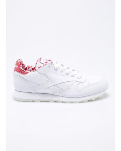Кроссовки кожаные белые Reebok