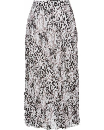 Черная шифоновая юбка макси Bonprix