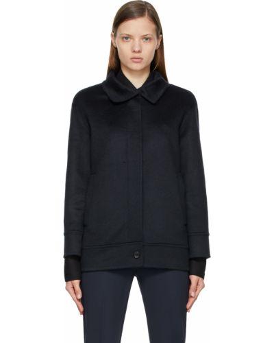 Черная куртка длинная Max Mara