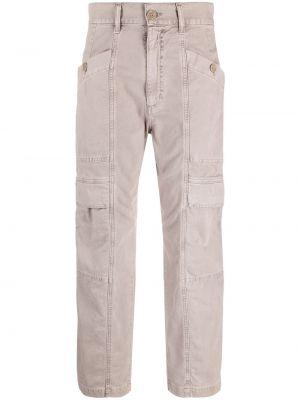 Jeansy z wysokim stanem bawełniane z paskiem Agolde