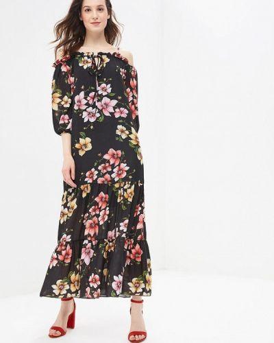 Черное платье с открытыми плечами Miss Miss By Valentina