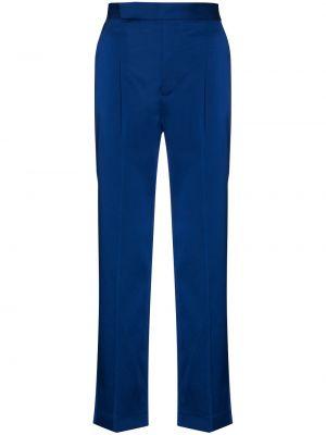 Хлопковые синие со стрелками брюки с высокой посадкой Mira Mikati