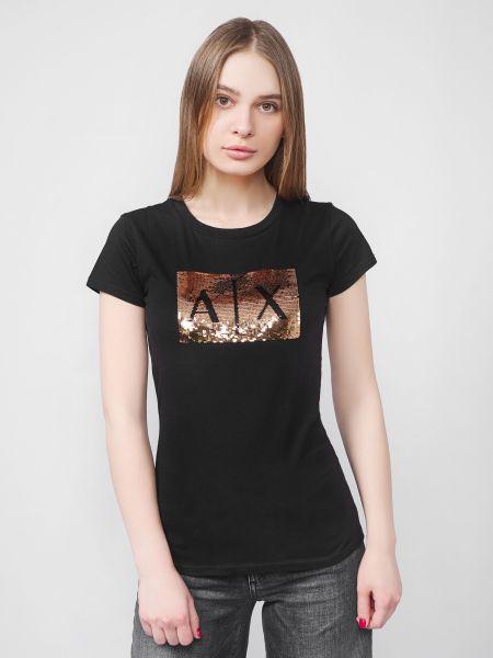 Повседневная футболка - черная Armani Exchange