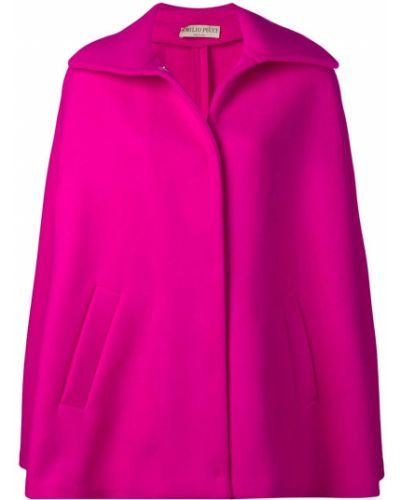 Розовое пальто с капюшоном Emilio Pucci