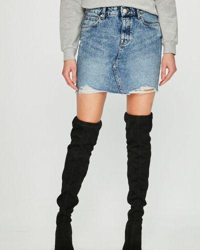 Юбка мини джинсовая на пуговицах Only