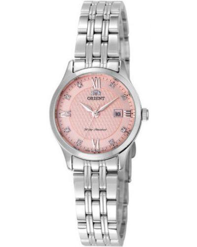Водонепроницаемые часы розовый кварцевые Orient
