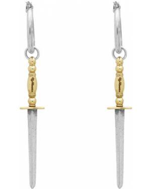 Kolczyki ze srebra ze złota Ugo Cacciatori