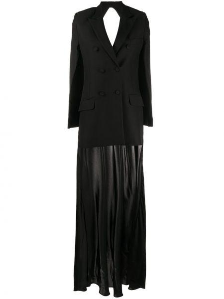 Черный длинная куртка двубортный с карманами Seen Users