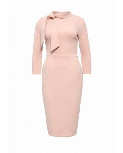 Розовое платье осеннее City Goddess