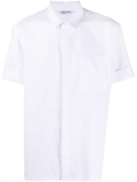Koszula krótkie z krótkim rękawem klasyczna z logo Neil Barrett