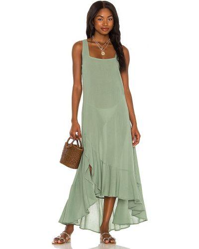 Зеленое хлопковое платье макси Tularosa