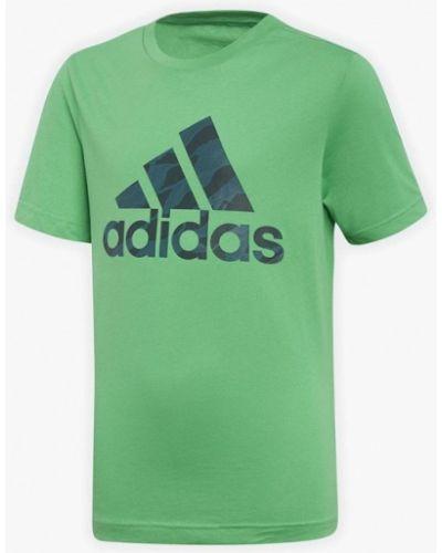 Зеленая футболка Adidas